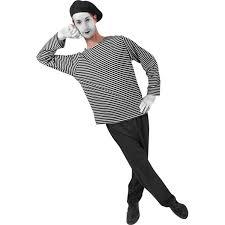 costume men halloween amazon com men u0027s mime halloween costume clothing