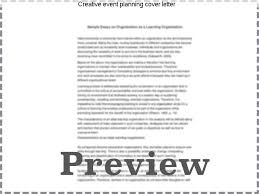 creative event planning cover letter homework help