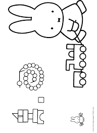 miffy color cartoon characters coloring pages color plate