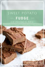 sweet potato chocolate tahini fudge wellness with taryn