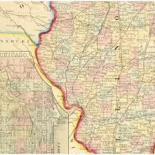 Bloomington Illinois Map by Map Illinois 1867 Original Art Antique Maps U0026 Prints