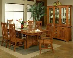 Oak Dining Set W Brentwood Chairs Bungalow By Ayca AYAPSet - Oak dining room sets with hutch