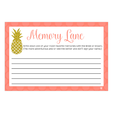 digital printable memory lane game for bridal showers or
