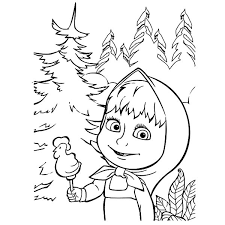 masha bear rooster shape delicious candy coloring pages