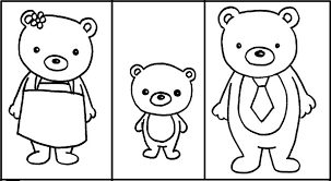 goldilocks bears coloring sheet free download