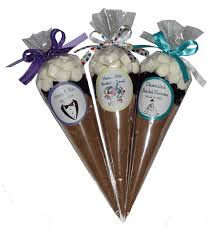 hot cocoa favors custom hot chocolate cones any occasion shopping mall