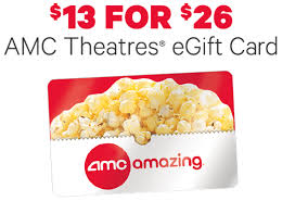 where to buy amc gift cards amc theatres egift card deal 50 deals master