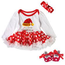 3pcs baby christmas romper santa xmas tree tutu dress