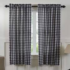 Black Check Curtains Black Buffalo Check Curtains Wayfair