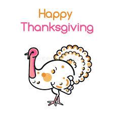 Thanksgiving Bird Happy Thanksgiving Day Design With Turkey Bird Stock Vector