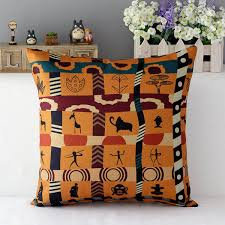 aliexpress com buy vintage african style cushion cover square