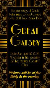 great gatsby prom invitation yaaaay prom committee pinterest