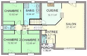 plan cuisine ouverte sur salon plan cuisine ouverte sur salon plan maison plain pied chambres with