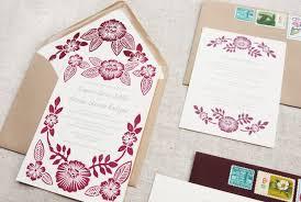 printed wedding invitations katharine watson block printed wedding invitations via oh so