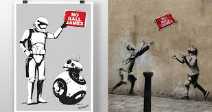 Banksy S Top 10 Most Creative And Controversial Nyc Works - here s what star wars characters would look like if banksy drew them