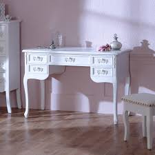 Ornate Vanity Table Pays Blanc U0027 Large 5 Drawer Antique White Dressing Table Writing