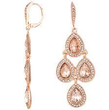 Rose Gold Chandelier Earrings Rose Gold Chandelier Earrings Home Design Ideas