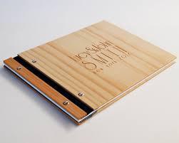 wood photo album deco wedding guest book custom wedding book photo book