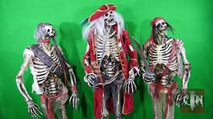 life size skeleton pirate props youtube