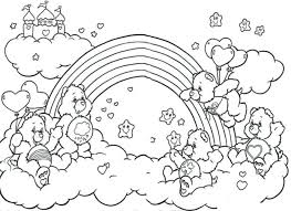 rainbow coloring pages brite free fish trout pony