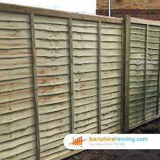 lap fence panels 5 5ft x 6ft natural berkshire fencing