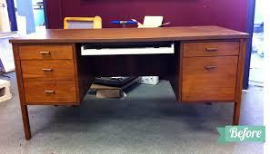 becki and chris diy refinishing an old desk