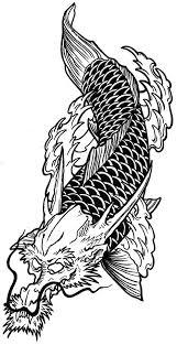 dragon dream catcher fantastic koi fish dragon tattoo deisgn black and white