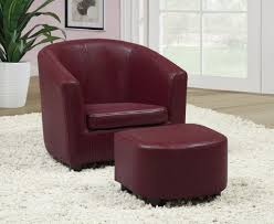 Burgundy Living Room by Leather Accent Chairs For Living Room Ideas Feature Rich Burgundy