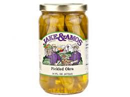 jake amos pickled foods amish style pickled vegetables canned pickled okra 16oz