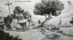 hmongbuy net how to draw a easy landscape with pencil strokes