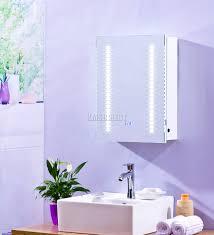 foxhunter 1 door led illuminated mirror bathroom cabinet storage