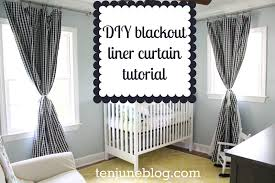 Green And White Gingham Curtains by Ten June Diy Blackout Curtain Tutorial How To Make Awesome