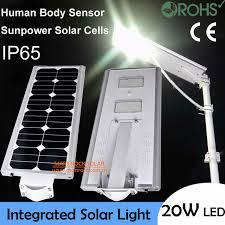 solar batteries for outdoor lights 20w led solar power street light 40w solar panel 18ah battery all