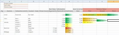 Project Tracker Excel Template Project Status Tracking Template In Excel For Content Management
