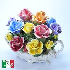porcelain roses casaps rakuten global market made in northern italy vicenza