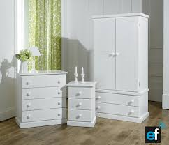 Already Assembled Bedroom Furniture by 3 Piece White Bedroom Set Ready Assembled Not Flatpack Amazon