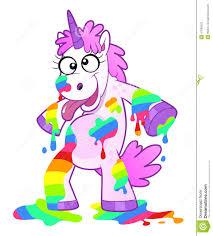 dirty rainbow unicorn stock vector image 47690523
