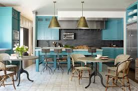 kitchen modern kitchen design blue wall cainet storage retro