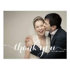 wedding thank you postcards wedding thank you cards invitations zazzle co uk