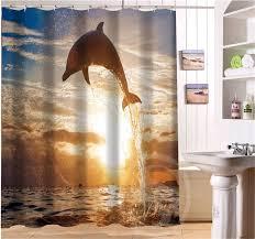 Bathroom Shower Curtain by Online Get Cheap Dolphin Shower Curtain Aliexpress Com Alibaba