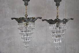 Small Glass Chandeliers Sold Mid 20th Century Glass Chandelier Pertaining To