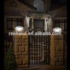 solar powered pillar lights 6v 1 5w solar panel powered pillar light outdoor wall mounted gate