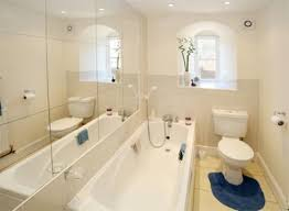 Bathroom Design Small Spaces Bathroom Fetching Blue And White Small Space Decoration With Light
