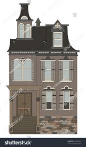 gothic style house illustration home building stock vector