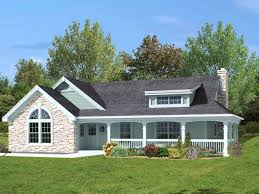 one story country house plans with wrap around porch house design