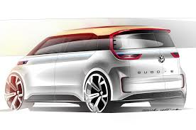 porsche mission e sketch volkswagen reveals budd e electric car at ces las vegas photo