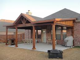 Patio Roof Designs Plans Wood Style Open Gable Patio Cover Plans Grande Room Tips For