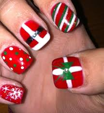 10 best nails images on pinterest easy christmas nail art