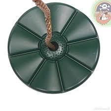 siege balancoire b balançoire disque siège disque en plastique coloris vert foncé de