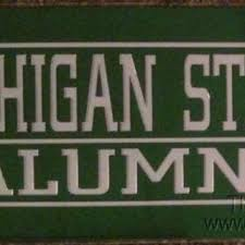 msu alumni license plate frame best michigan state spartans products on wanelo